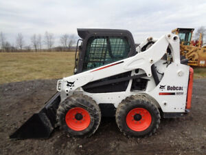 2015 Bobcat S570 Skid Steer Cab heat air Sticks pedals 61hp Diesel 1 680 Hrs