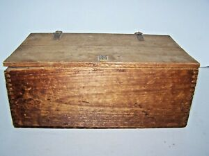 Antique Primitive Wood Box With Antique Shaving Implements Farm Attic Find
