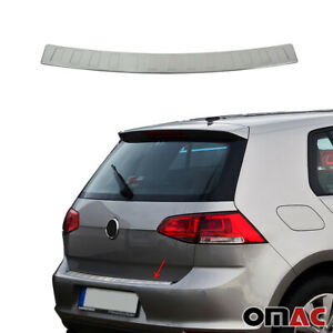 Fits Vw Golf Mk7 2015 2020 Brushed Chrome Rear Bumper Trunk Sill Cover S steel