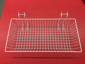 Mini Wire Grid Basket For Pig Board 24 X 12 X 4 Inch White Display In Store