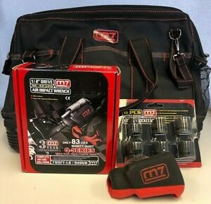 M7 Air Impact Wrench Combo Set 1 2 Drive 6 Sockets And Tool Bag Nc 4232q New