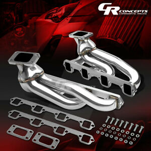 T3 Flange Racing Exhaust Twin Turbo Manifold For 87 93 Mustang Gt svt 5 0 302 V8