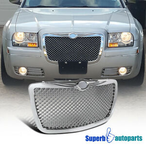 For 2005 2010 Chrysler 300 300c Front Mesh Grill Hood Grille