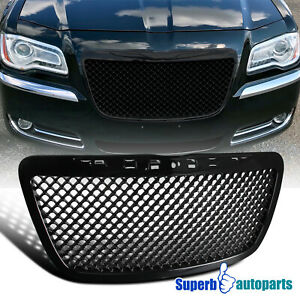 For 2011 2014 Chrysler 300 300c Black Mesh Honeycomb Style Front Hood Grille