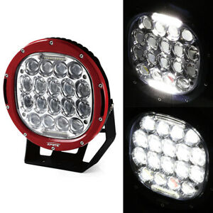 Xprite Red 9 Inch 95w Cree 30 Led Work Light Driving Spot Beam Round Lamp 12v