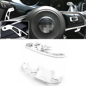 Silver Aluminum Steering Wheel Dsg Paddle Shifter Extension For Vw Golf Gti Gli