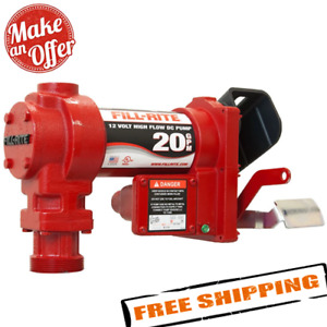 Fill rite Fr4204g 20 Gpm 12 volt 5 foot Ground Wire Explosion Proof Dc Pump