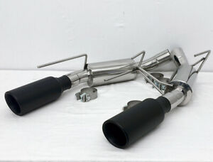 Sss Exhaust 2005 2010 Mustang Gt V8 Axle Back Stainless Steel 304 Black Tips