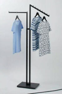 2 Way Clothing Garment Display Rack For Retail Shop Store Commercial Heavy Duty