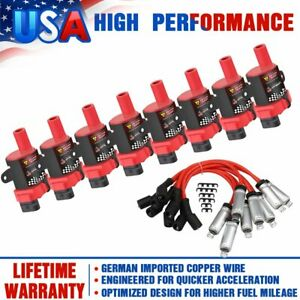 D585 Ignition Coil Spark Plug Pack For Chevy Silverado Gmc Ls1 Ls3 4 8 5 3l 6 0l