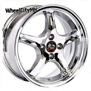 17 X9 17x8 Staggered Chrome Ford Mustang Cobra R Oe Replica Wheels 4x4 25