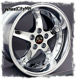 17 X10 5 17x9 Staggered Chrome Ford Mustang Cobra R Oe Replica Wheels 5x4 5