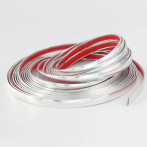 8mm 5m Chrome Car Styling Moulding Strip Trim Self Adhesive Cover Tape