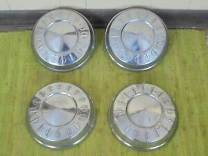 1961 Plymouth Dog Dish Hub Caps 10 Set Of 4 Mopar 61 Hubcaps