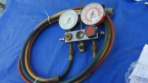 Snap On A c Test And Charging Manifold Gauges And Hose Set 134a