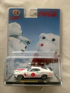 M2 MACHINES COCA COLA 1970 FORD MUSTANG BOSS 302 DIECAST MODEL