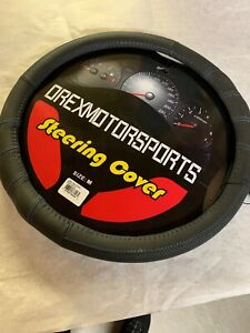 Orexmotorsports Steering Wheel Cover 15 Leather Blue Stitch New