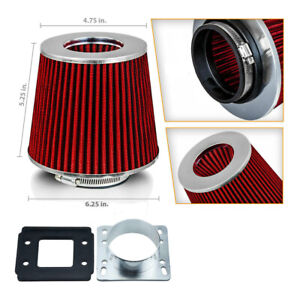 Eit Air Intake Maf Adapter Red Filter For 1990 1997 Mazda Miata Mx5 1 6 1 8 3 0