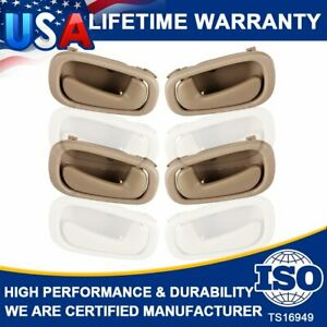 Interior Inner Inside Door Handles Beige 2 Left 2 Right For Toyota Corolla 98 02