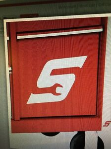 Snap On Brushed Stainless Steel S Magnetic Logo
