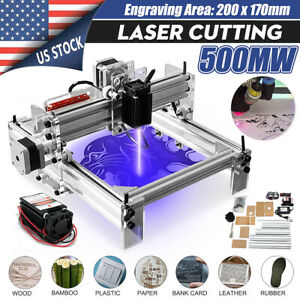 500mw Desktop Laser Engraving Machine Logo Marking Printer Engraver Cutting