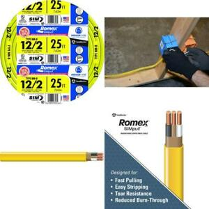 Electrical Wire Southwire 1 1000 Ft 12 gauge Solid Romex Simpull Cu 12 2 Nm b