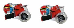 Scotch Packaging Tape Dispenser With 2 Rolls Of Heavy Duty Shipping Packaging