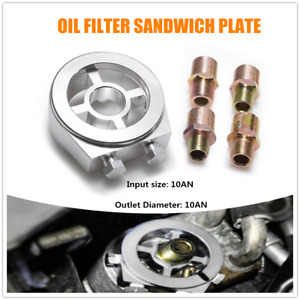 Oil Cooler Filter Sandwich Plate Adapter An10 M20x1 5 Fit For Honda Ford Toyota