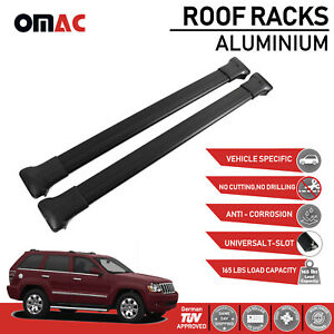 Roof Rack Cross Bars Luggage Carrier Black For Jeep Grand Cherokee Wk 2005 2010