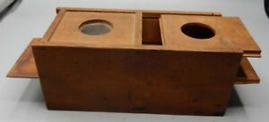 Antique Square Nailed Exceptional Bee Box Queen Bee Lure Trap Letter