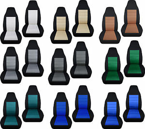 Front Set Car Seat Covers Two Tone 23 Colors Fits Chevy Gmc Truck 1998 1994