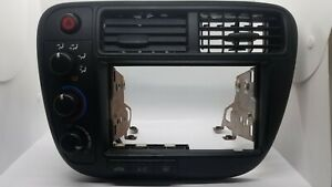 1999 2000 Honda Civic Lx Ex Dx Radio Dash Bezel Trim Climate Control Black 99 00