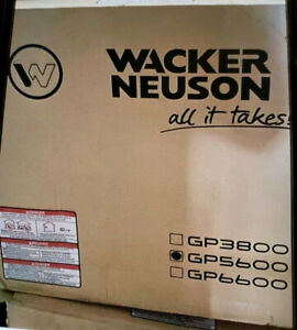 Wacker Neuson Gp5600a Gas Generator New In Box