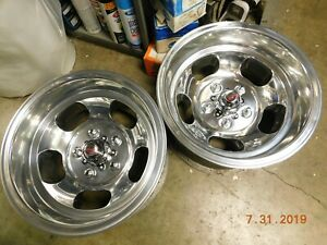 Vintage Polished 15x8 5 Slot Mag Wheels Chevy gmc Truck Van 5 On 5 Full size Gm