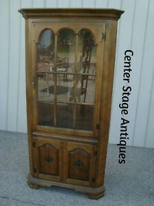 60133 Solid Maple Corner China Cabinet Curio