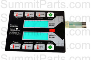 Black Membrane Switch Touch Pad For New Dexter Stack Dryer 9801 100 001