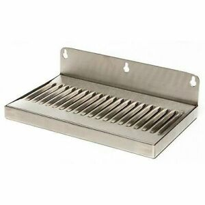 Stainless Steel Drip Tray 12 X 6 Kegerator Faucet Draft Beer Wall Mount