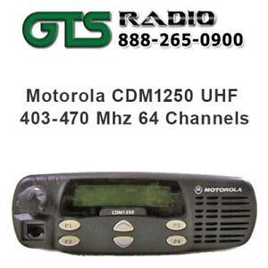 Refurbished Motorola Uhf Cdm1250 Vehicle Two Way Radio Mobile Pilot Truck Police
