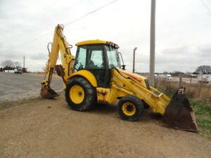 New Holland Lb110 4x4 Tractor Loader Backhoe Cab Extendahoe 4 In 1 Bucket