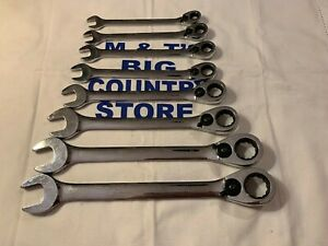 Blue Point 8pc 12 point Metric Ratcheting Wrench Set 9 19mm Boerm