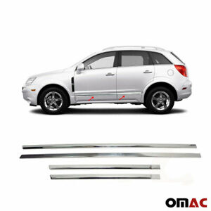 For Saturn Vue 2008 2010 Chrome Side Door Trim Guard Stainless Steel 4 Pcs