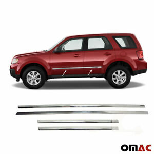For Mazda Tribute 2008 2011 Chrome Side Door Trim Guard Stainless Steel 4 Pcs