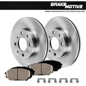 Front Brake Rotors And Ceramic Pads For 1988 1989 1990 1991 1992 Toyota Corolla