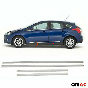 For Ford Focus 2012 2018 Chrome Side Door Trim Cover Stainless Steel 4 Pcs