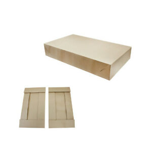 25 Pc Kraft Pinstripe 2 Piece Apparal Gift Boxes