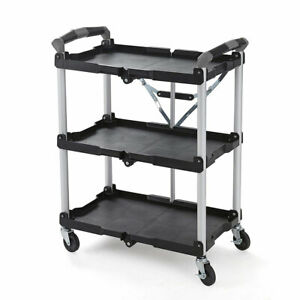 Olympia Tools Pack N Roll Collapsible Storage Service Cart With Wheels open Box