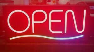 Newon Lighted Open Sign With 3 Color Wave Model 3284