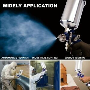 1 4mm Hvlp Spray Gun Auto Air Paint Gravity Feed Flake Nozzle Basecoat Clearcoat