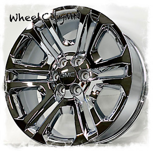 20 Inch Chrome 2017 Gmc Sierra Denali Oe Replica Ck158 Wheels 4741 6x5 5 31
