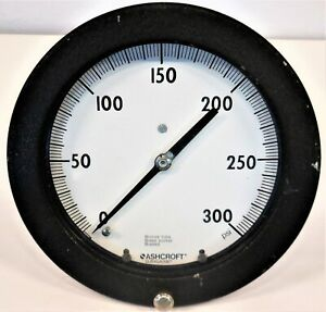 Ashcroft Duragauge Pressure Gauge 0 300 Psi Bronze Tube Brass Socket 6 Face